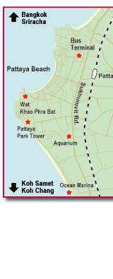 Pattaya Hotel Map